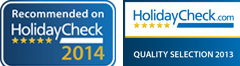 Hotel Villa Esmeralda: Recommended in HolidayCheck in 2014 and 2013